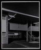 view Exterior photograph of Members' Housing Project, Institute for Advanced Study, Louis Bamberger and Mrs. Felix Fuld Foundation, at Princeton University, Princeton, New Jersey digital asset number 1