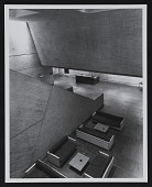view Photograph of connecting stair between Main Hall and Lower Hall of the Murray Lincoln Campus Center, University of Massachusetts, Amherst digital asset number 1