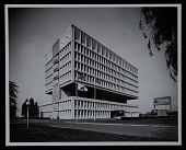 view Exterior photograph of corporate headquarters of the Armstrong Rubber Company, New Haven, Connecticut digital asset number 1