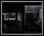 view Photograph of living room and interior garden of the Staehelin Residence in Feldmeilen, Switzerland digital asset number 1