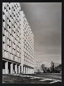 "view Photograph of arcade and South facade of ""Z.U.P."" project, Bayonne, France digital asset number 1"