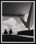 view Photograph of sisters in the open Cloister Walk at the Convent of the Annunciation digital asset number 1