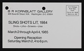 view B.R. Kornblatt Gallery records, 1971-1992 digital asset number 1