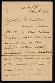 view John George Brown letter to Mr. Kraushaar digital asset number 1
