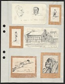 view Miscellaneous sketches and prints digital asset: page