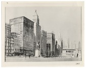 view Photograph of <em>Michigan Avenue, Chicago</em>, watercolor by William Spencer Bagdatopoulos digital asset number 1