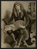 view Reproduction of Marguerite Zorach's painting <em>Child with cat</em> digital asset number 1