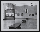view Installation photograph of Louis Bunce Retrospective at Portland Art Museum in Portland, Oregon digital asset number 1