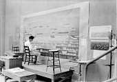 view William Bunn working on a mural for the Minden Post Office, Minden, NE digital asset number 1