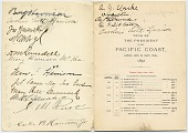 view itinerary autographed by those on President Benjamin Harrison's Western tour of the United States to the Pacific Coast digital asset number 1