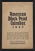 view American block print calendar 1937 digital asset: cover