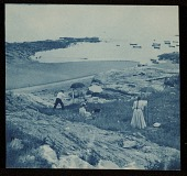 view Mary Butler and other artists plein air painting on the New England coast digital asset number 1