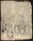 view Illustration of parade of fools, New York City digital asset number 1