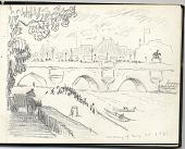 view Travel sketchbook from Paris, France digital asset: sketchbook page