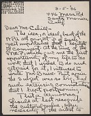 view Edward Weston letter to Holger Cahill digital asset number 1