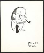 view Reproduction of a caricature of Stuart Davis by Aline Fruhauf digital asset number 1