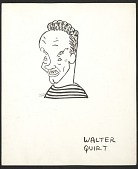 view Reproduction of a caricature of Walter Quirt by Aline Fruhauf digital asset number 1