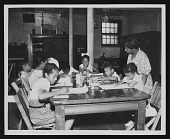 view Photograph of children in art class, Children's Art Gallery, Washington, D.C. digital asset number 1