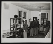 view Photograph of cadets from New Mexico Military Institute visiting Roswell Museum Federal Art Center digital asset number 1