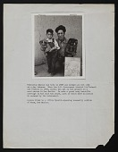 view Photograph of Patrocino Barela with son and wood carvings digital asset number 1