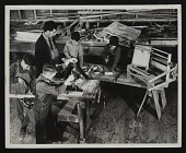 view Photograph of woodworking class making looms at Melrose Federal Art Center, Melrose, New Mexico digital asset number 1