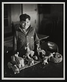 view Photograph of student from sculpture class at Roswell Federal Art Center, Roswell, New Mexico digital asset number 1