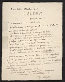 view Handwritten introduction to the Galerie Percier exhibition catalog digital asset number 1