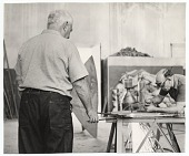 view Alexander Calder at work in the studio digital asset number 1