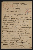 view Winslow Homer, Scarborough, Me. letter to John Wesley Beatty, Pittsburgh, Pa. digital asset number 1