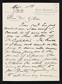 view Mary Cassatt letter to Albert Dakin Gihon digital asset number 1