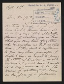 view Mary Cassatt letter to John Wesley Beatty digital asset number 1