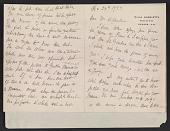 view Mary Cassatt letter to Homer Saint-Gaudens digital asset number 1