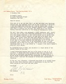 view Lee Nordness, New York, N.Y. letter to Wendell Castle, Rochester, N.Y digital asset number 1