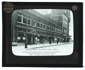 view Detroit Society of Arts and Crafts, opening exhibition at the Knowlson Building, 122 Farmer Street. Exterior view digital asset number 1