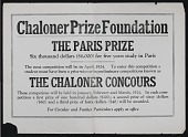 view Chaloner Prize Foundation records, 1915-1974 digital asset number 1
