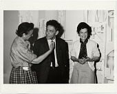 view Louise Nevelson, Alberto Giacometti, and Dorothy Miller at the American Pavilion of the Venice Biennale, where Miller was installing Nevelson's work digital asset number 1