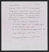 view Lenore Tawney letter to Maryette Charlton digital asset number 1