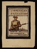 view N. C. Wyeth sketch for <em>Poems of American patriotism</em> book cover digital asset number 1