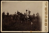 view Kaiser Wilhelm on horseback with cigarette, during army manoeuvres digital asset number 1