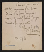 view Frederick Stuart Church letter to unidentified recipient digital asset number 1