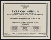 view Flyer for <em>Eyes on Africa</em>, Cinque Gallery digital asset number 1