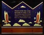 view The <em>What Does the Lord Require of Thee?</em> triptych by Hildreth Meiere created as a portable altarpiece for the US armed forces digital asset number 1