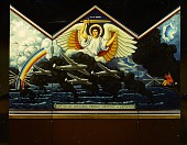 view The <em>On with Michael Prince Militant of Heaven</em> triptych by Salvatore Lascari created as a portable altarpiece for the US armed forces digital asset number 1