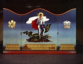 view <em>Come Unto Me</em> triptych by Virginia Adams created as a portable altarpiece for the US armed forces digital asset number 1
