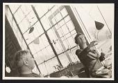 view Agnes Rindge Claflin and Alexander Calder in Calder's studio digital asset number 1