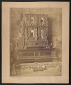 """view Photograph of Charles Caryl Coleman's """"Nuremburg Cabinet"""" in the artist's studio digital asset number 1"""