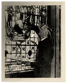 view Charles Connick at his stained glass window digital asset number 1