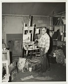view Jay Hall Connaway at work in his studio digital asset number 1