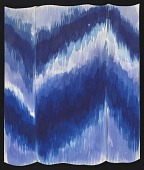 view Watercolor sketch of ikat pattern digital asset number 1