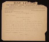 view Walt Kuhn telegram to Edward Warren digital asset number 1